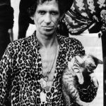 Keith Richards and cat