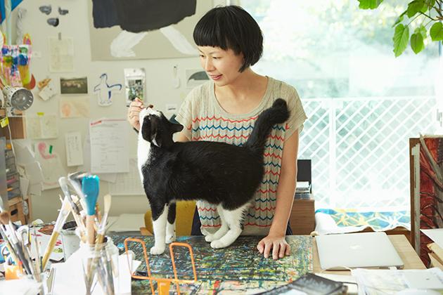 Miroco Machiko and cat 2