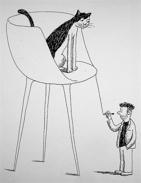 27-Franco Matticchio, cat cartoons