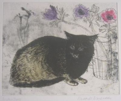 Elizabeth Blackadder, Black Cat