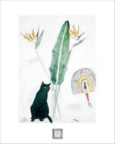 Elizabeth Blackadder, Black Cat and Strelitzia