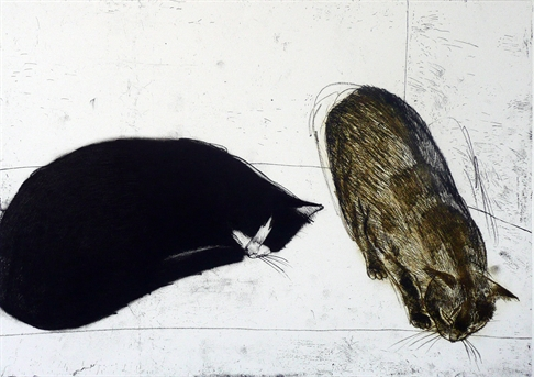 Elizabeth Blackadder, Two Cats