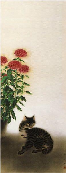 Chrysanthemum and Cat, Hayami Gyoshu