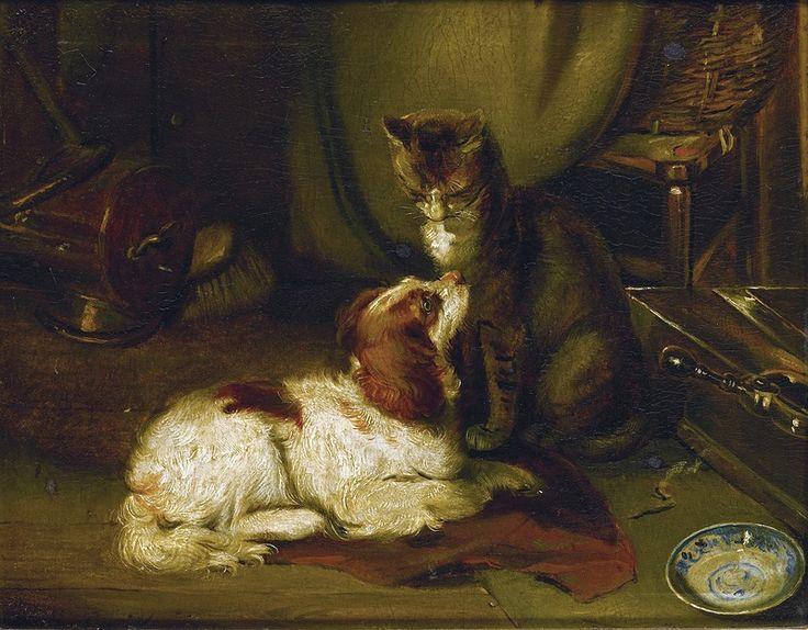 Cat and Dog, Louis Eugene Lambert