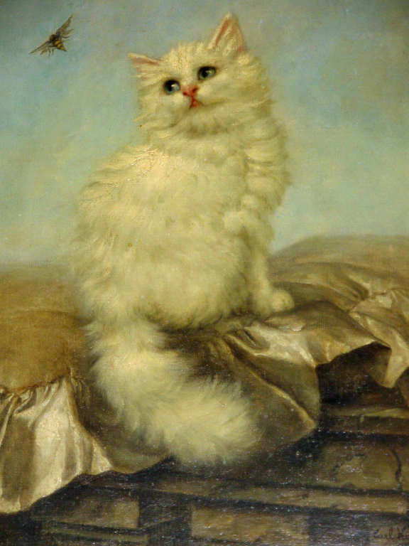 1855-1906 Carl Kahler Buzz Off!, Cats in Art