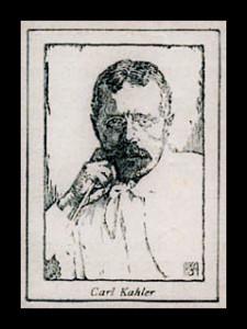 Sketch of Carl Kahler, cat painter