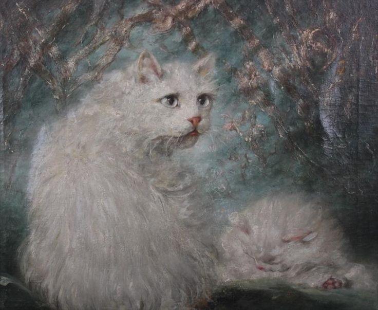 Mother and Kitten, Carl Kahler