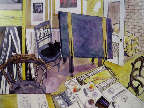 Four Chairs and a Cat, 1987 Edward Bawden