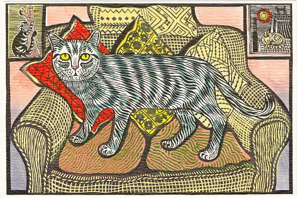 Cat on a Chair, Edward Bawden