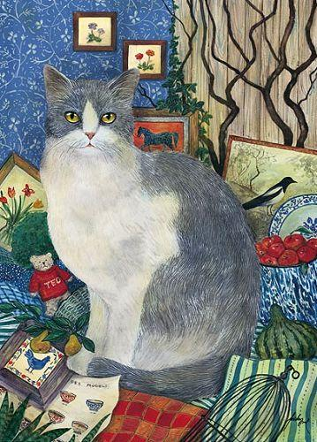 Feridun Oral, Grey and White Cat