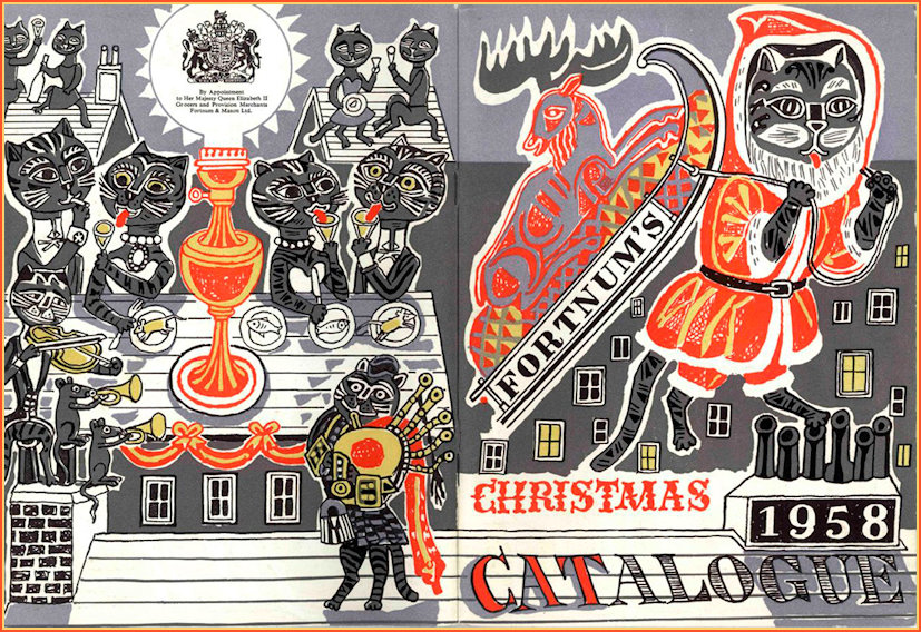 Cats in Advertising F&M Christmas Catalogue, Edward Bawden