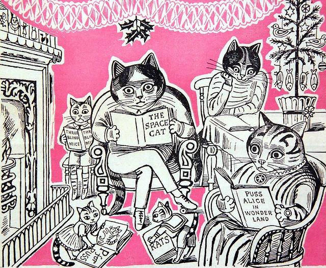 Cat Illustration cover of magazine, Edward Bawden