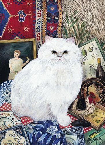 Feridun Oral, White Persian Cat