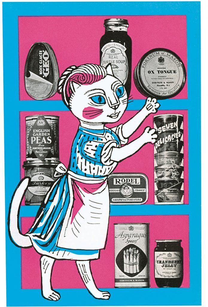 Cat in the Kitchen Illustration, Edward Bawden