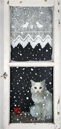 Feridun Oral, Cat at the Window