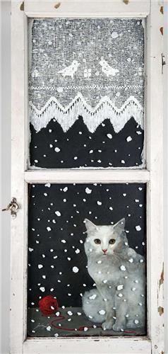 Feridun Oral, Cat at the Window