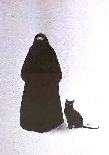 Feridun Oral, Muslim Woman and Black Cat