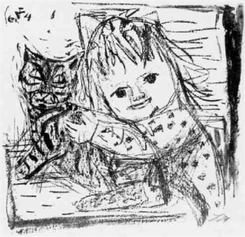 Otto Dix, Cat and Child