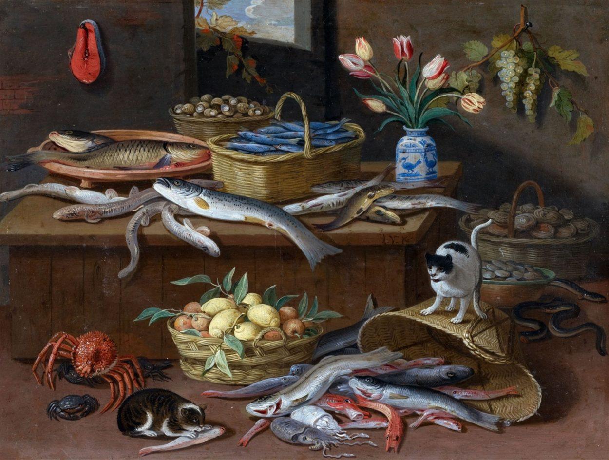 Cats and Fish Still Life, Jan van Kessel, the Elder