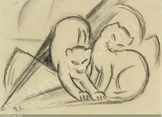 Georg Schrimpf, Playing Cats