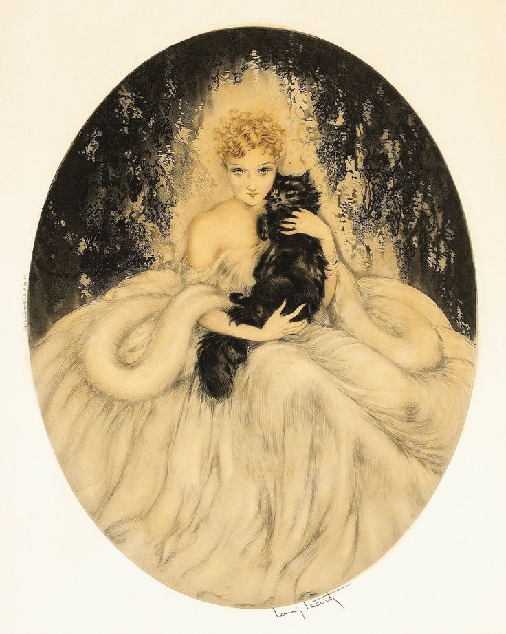 Louis Icart, The Black Persian, Enigma, 1935