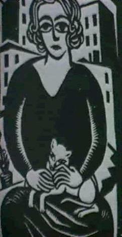 Maria mit katze by georg schrimpf, Georg Schrimpf