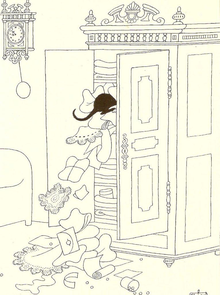 Albert Dubout, Cat in the Closet
