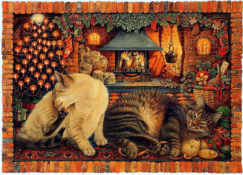 19-Leslie Anne Ivory, Christmas Cats