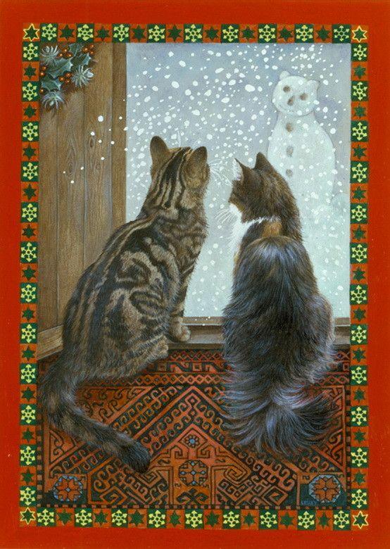 22-Leslie Anne Ivory, Xmas Cat