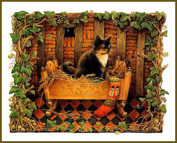 24-Leslie Anne Ivory, Xmas Cat