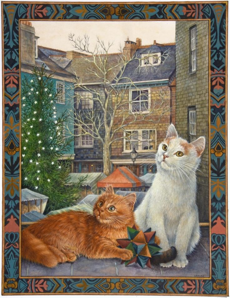 26-Leslie Anne Ivory, Xmas Cat
