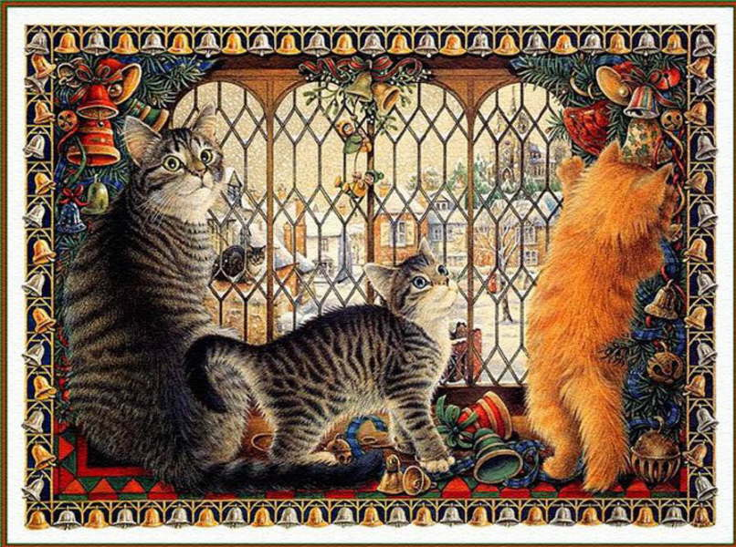 30-Lesley Anne Ivory, Christmas Cats