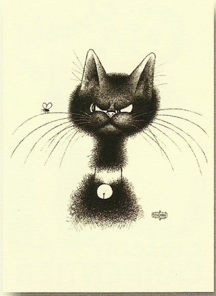 Albert Dubout, Cat and Fly, La Mouche