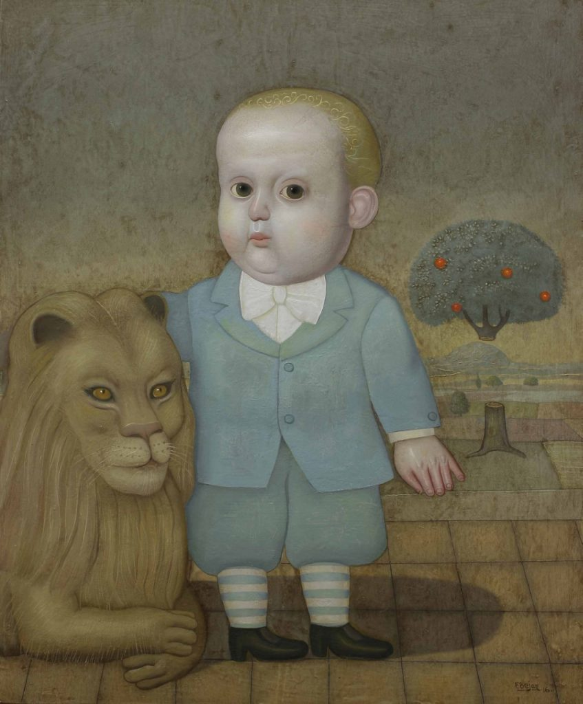 Boy and Lion, Juan Bejar