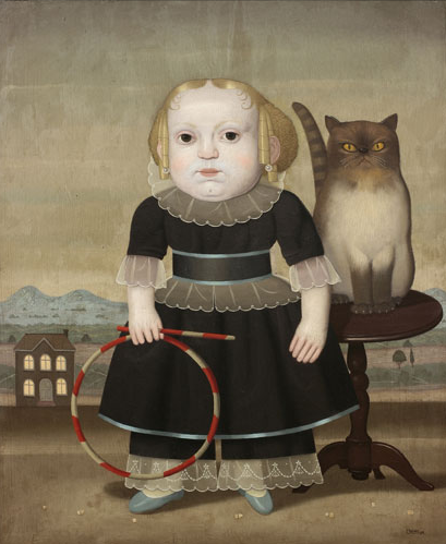 Girl and Cat, Juan Bejar