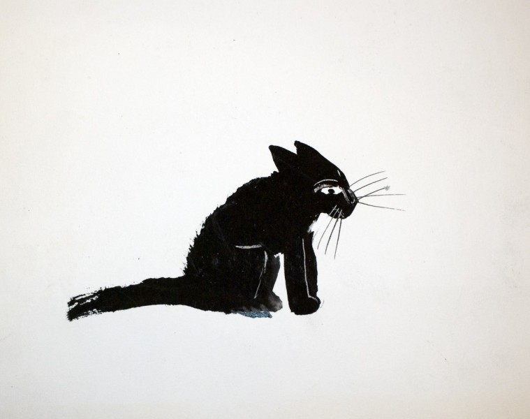 Sitting Black Cat, Jozef Wilkon