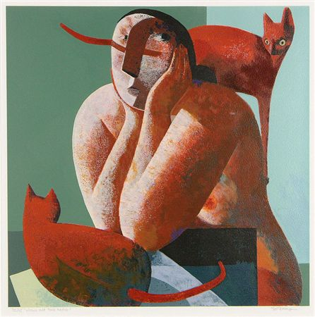 Two Cats and a Woman, Peter Harskamp