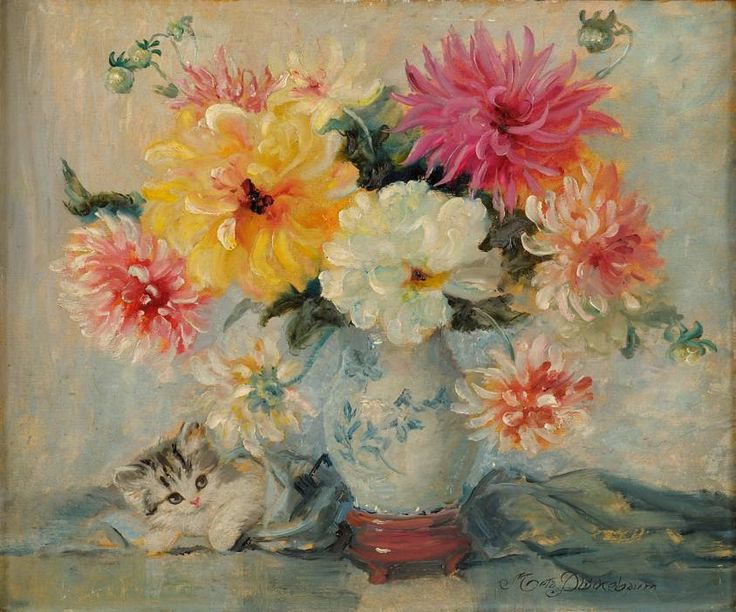 Meta Pluckebaum, Kitten and Flowers