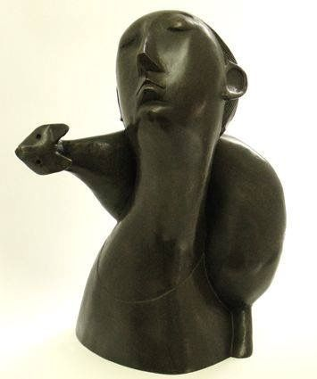 Cat and Woman Sculpture, Peter Harskamp