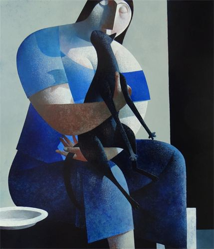 Cat on a Woman's Lap, Peter Harskamp
