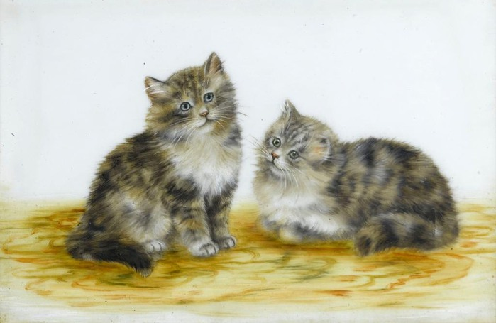 Two Grey and White Kittens, Meta Pluckebaum