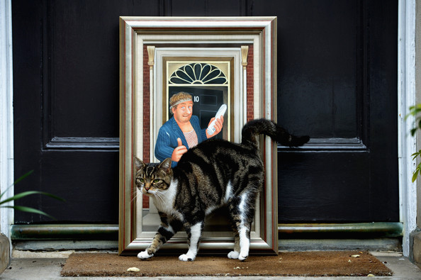 Beryl Cook, Larry the Cat at 10 Downing and Comic Nesbitt