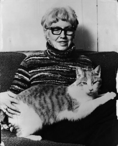 Beryl Cook and Cat