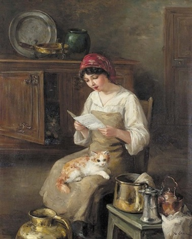 Cats in the Kitchen, Marie Yvonne Laur