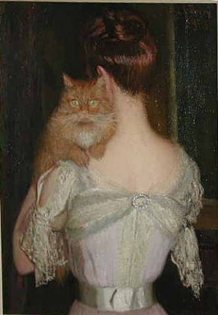 Lilla Cabot Perry, Woman with Cat