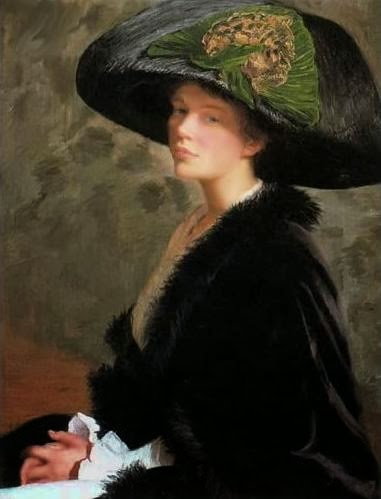 Self-Portrait, Lilla Cabot Perry, 1913, The Green Hat