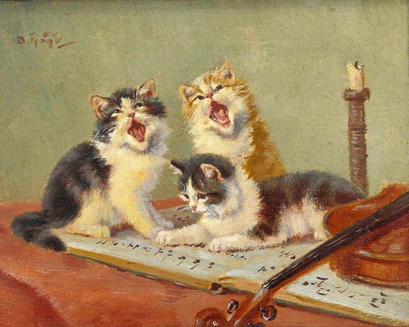 Three Kittens Singing, Benno Kogl