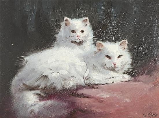 Two White Cats, Benno Kogl