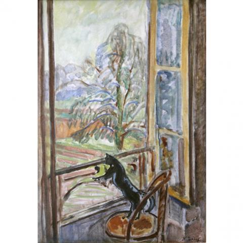 Nicholas Tarkhoff, Black Cat at the Window