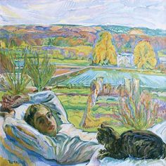 Nicholas Tarkoff, Lying Down with Black Cat